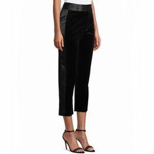 NWT FRAME Velvet Tux Straight-Legs Pants
